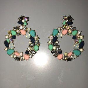 J.Crew | multi color stud statement earrings